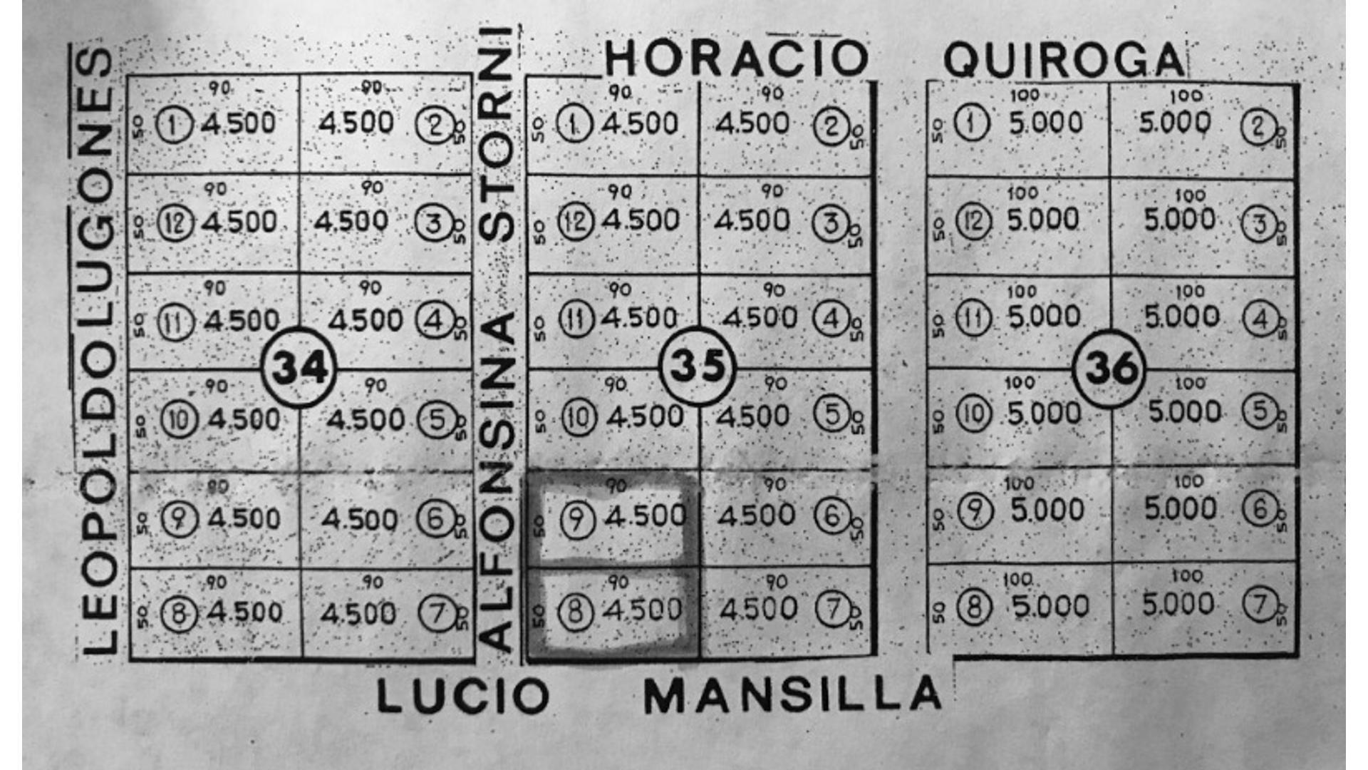Lucio Mansilla 100 - U$D 40.000 - Campo en Venta