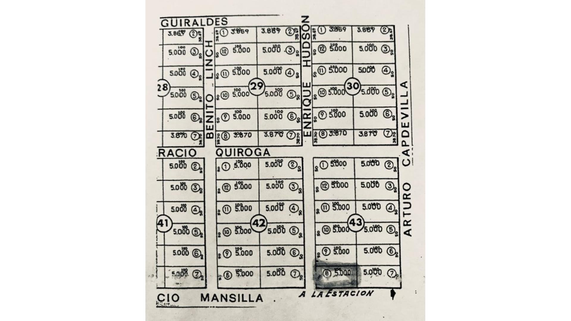 Lucio Mansilla 100 - U$D 30.000 - Campo en Venta
