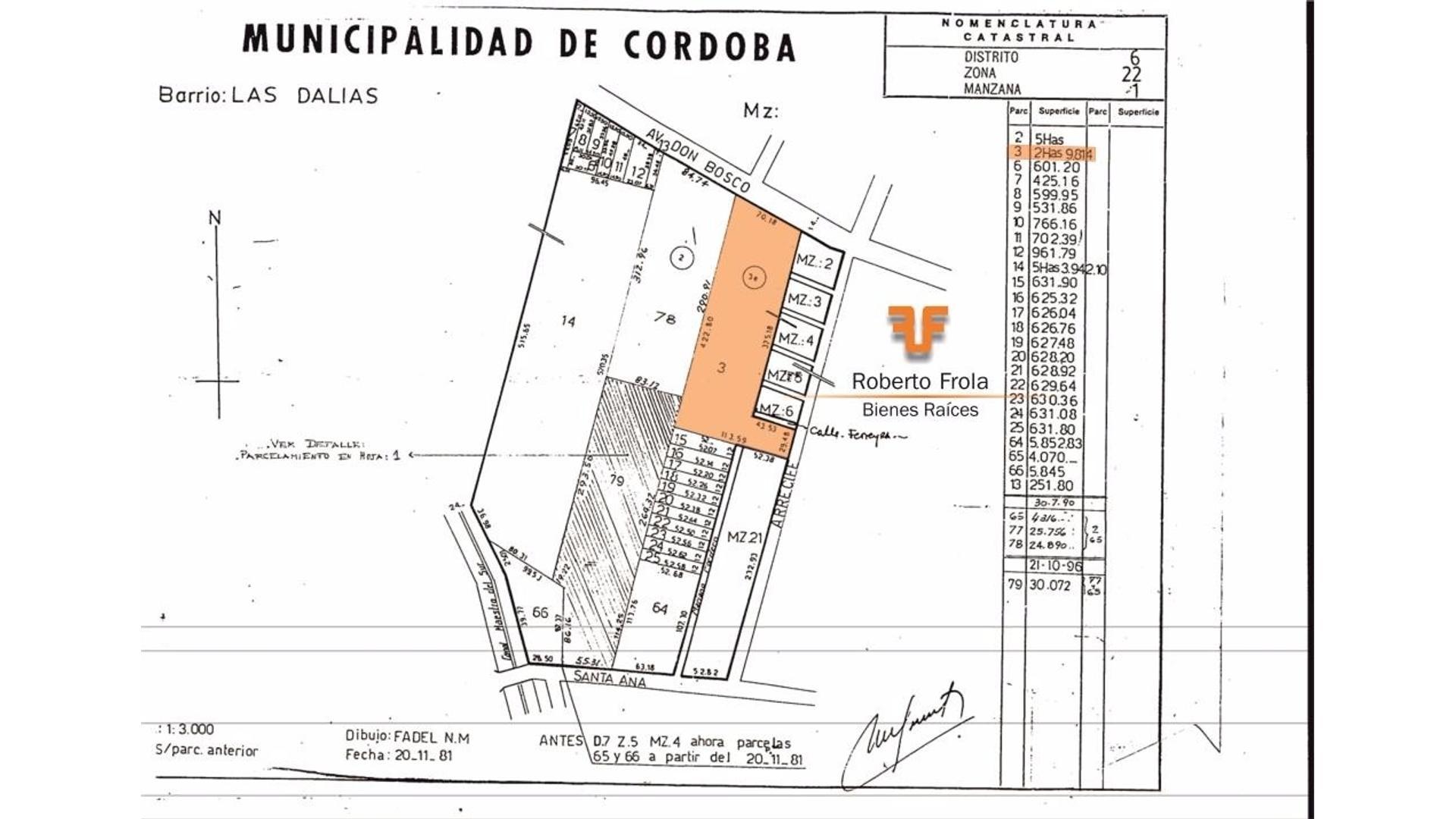 Av. Don Bosco 8400 - U$D 30 - Terreno en Venta