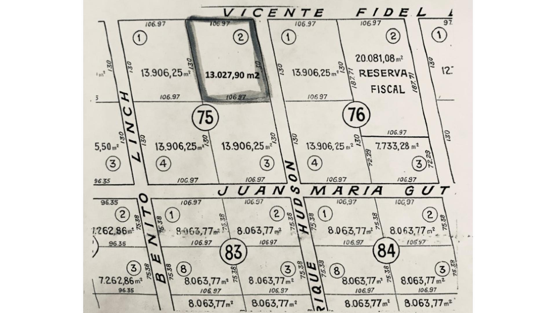 Hudson 100 - U$D 35.000 - Campo en Venta