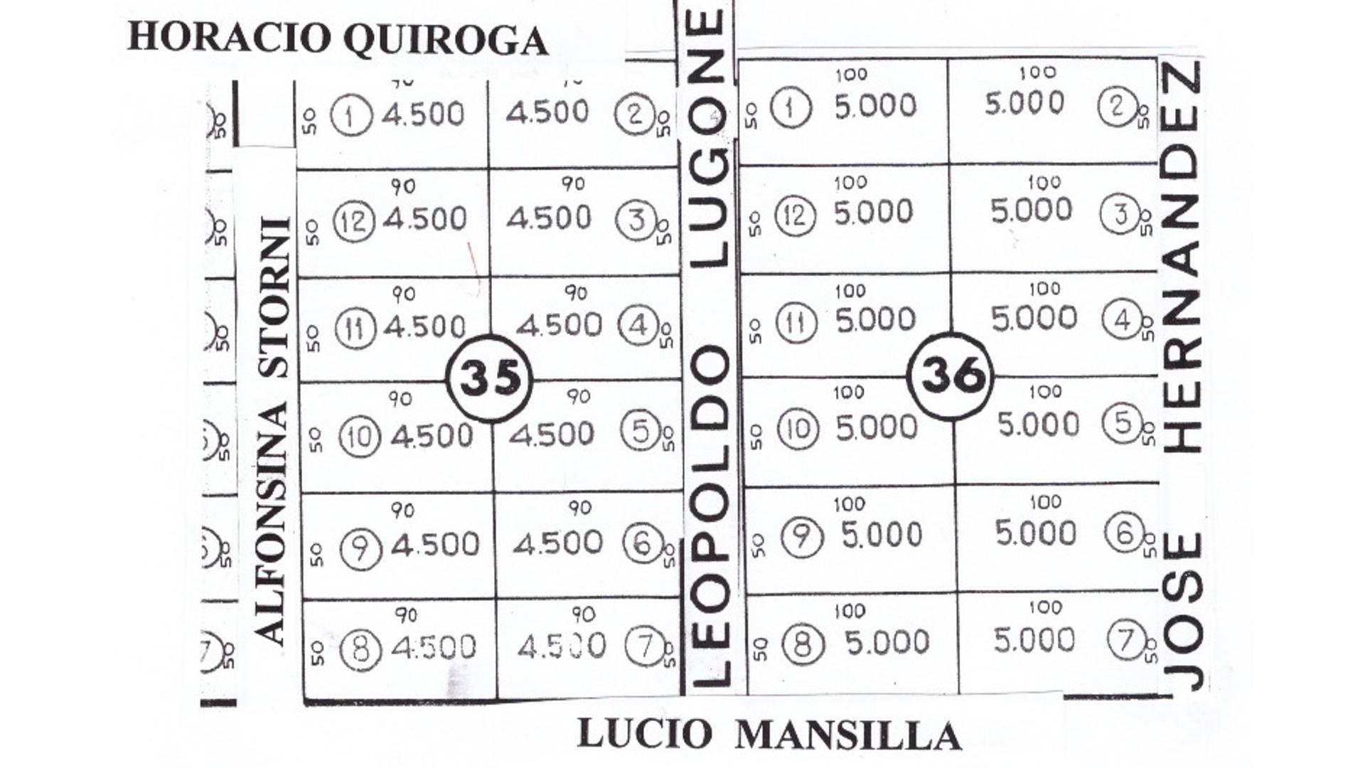 José Hernández 100 - U$D 32.000 - Campo en Venta