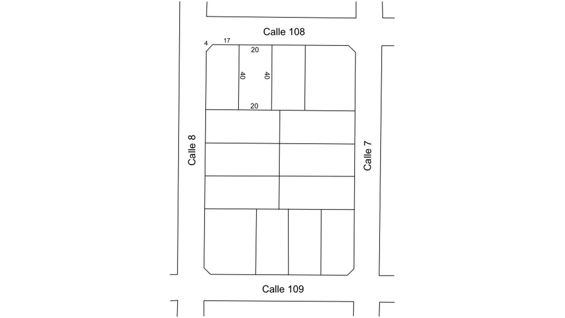 Calle 108 100 - U$D 22.000 - Terreno en Venta
